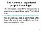 the axioms of equational propositional logic