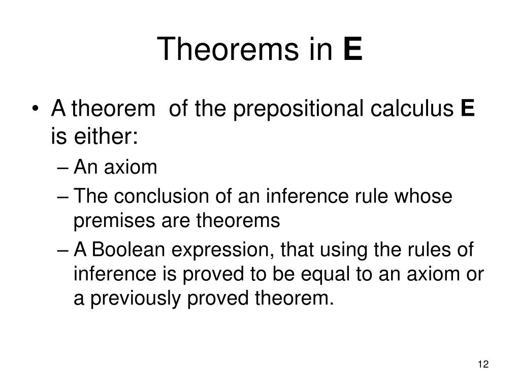 Theorems in