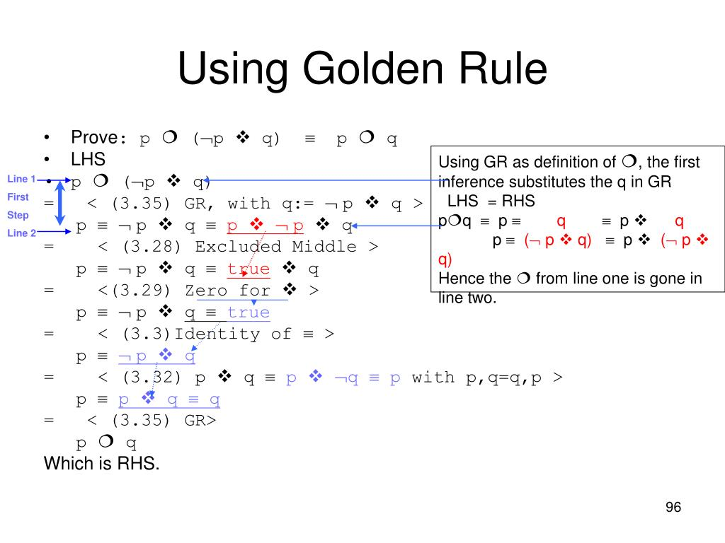 Using Golden Rule