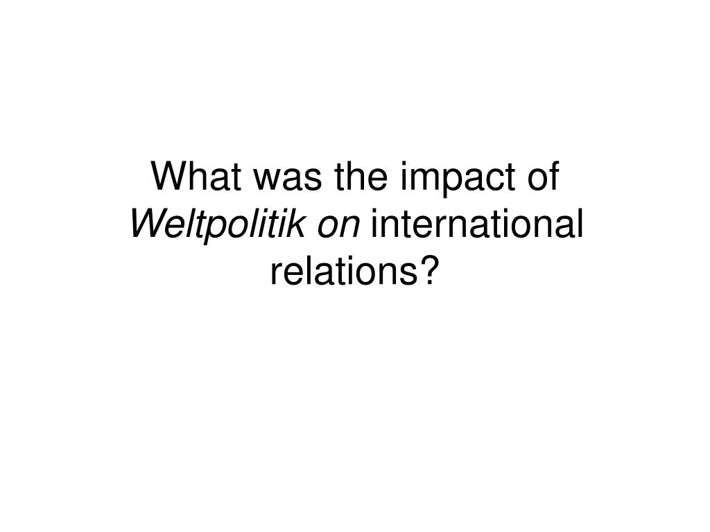 What was the impact of