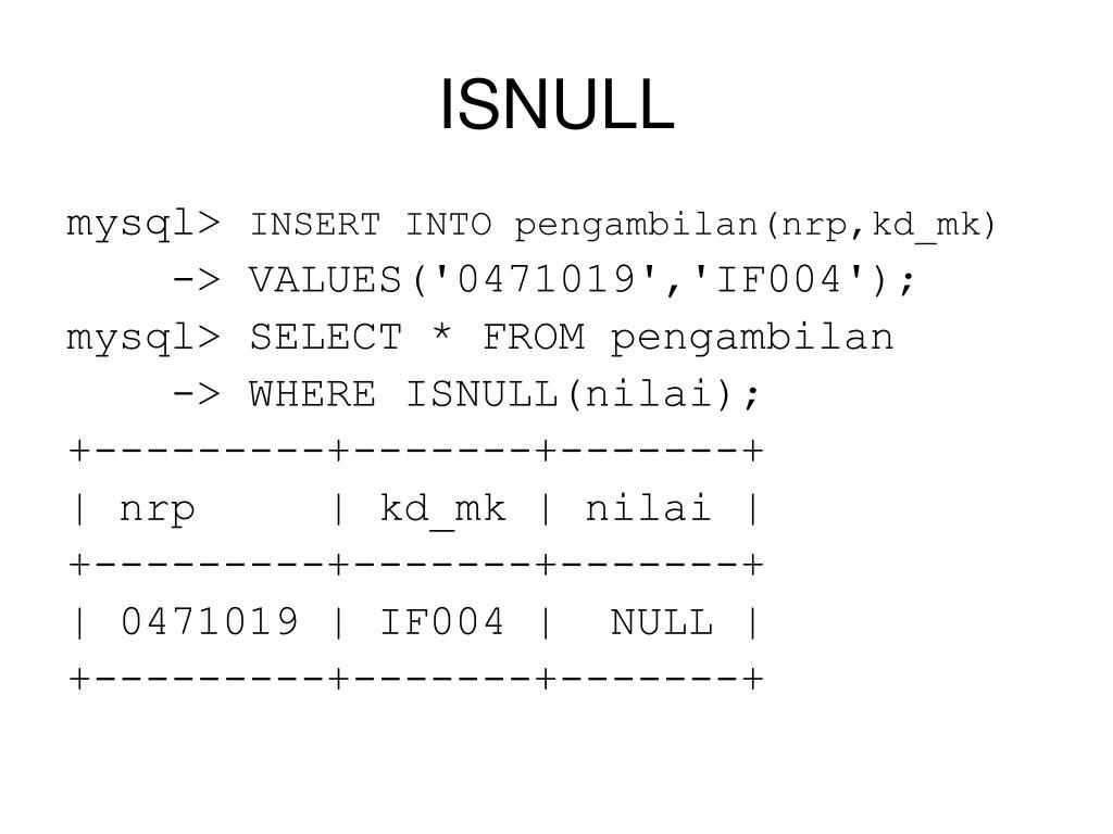 ISNULL