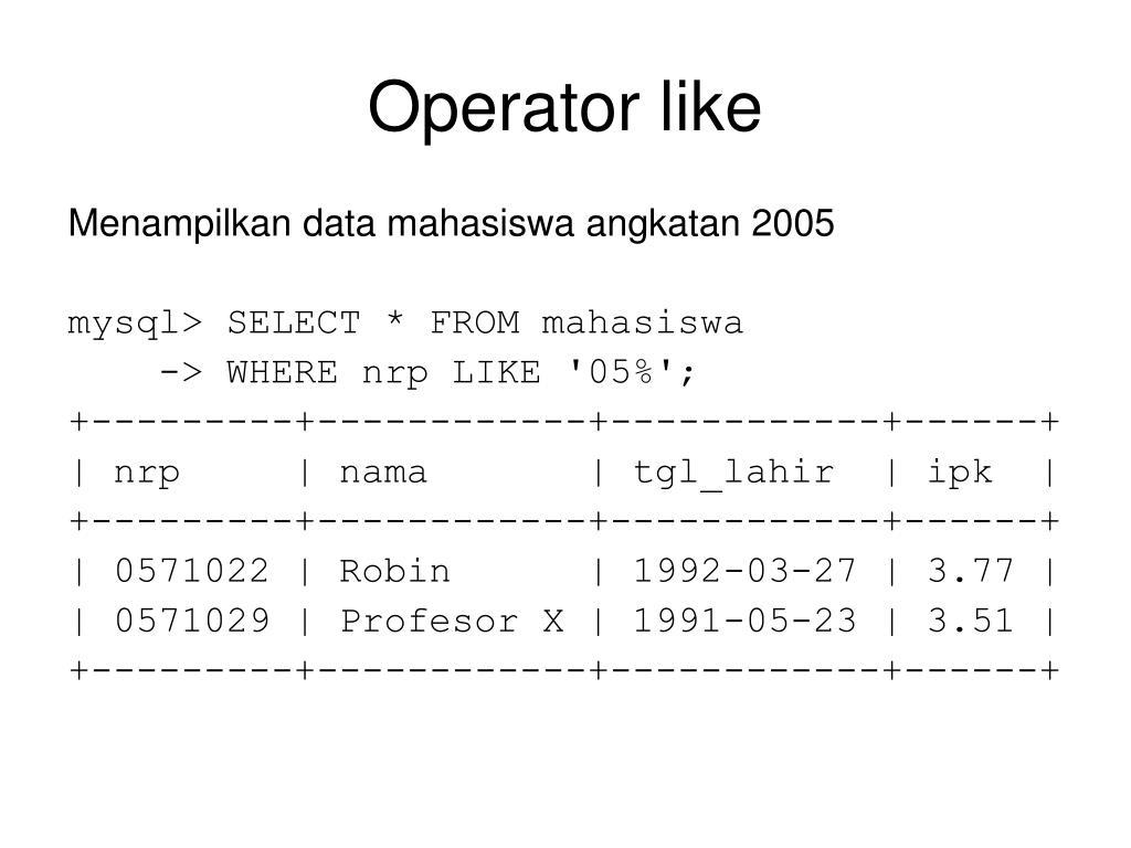 Operator like