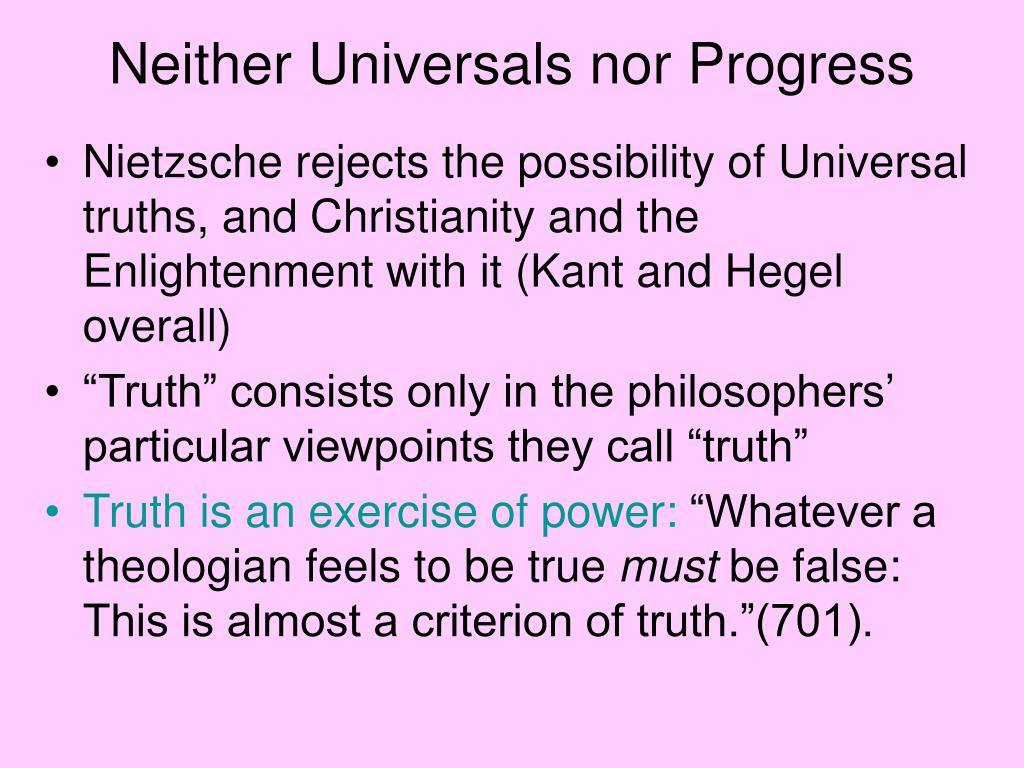 Neither Universals nor Progress
