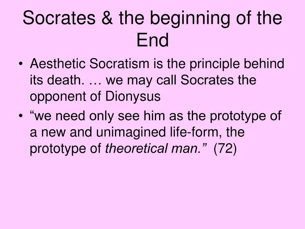 Socrates & the beginning of the End