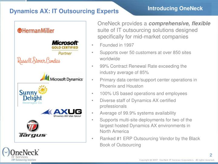Dynamics ax it outsourcing experts