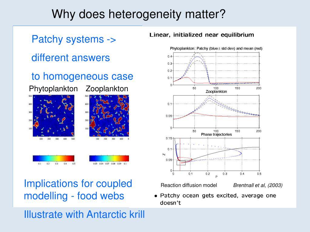 Why does heterogeneity matter?