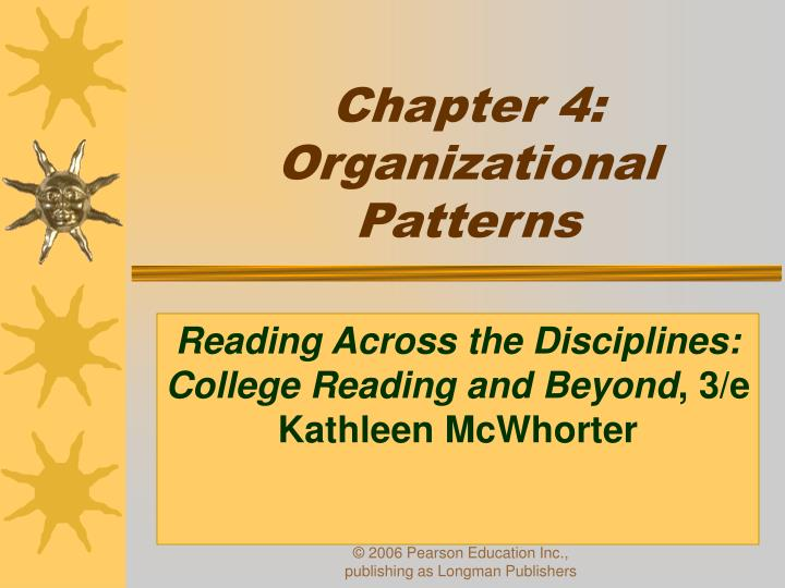 chapter organization thesis Writing chapter 4 disclaimer this presentation is not exhaustive before approaching chapters 4 and 5 of your thesis or dissertation, peruse other similar.