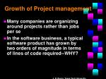 growth of project management