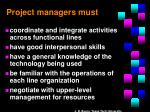 project managers must