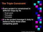 the triple constraint