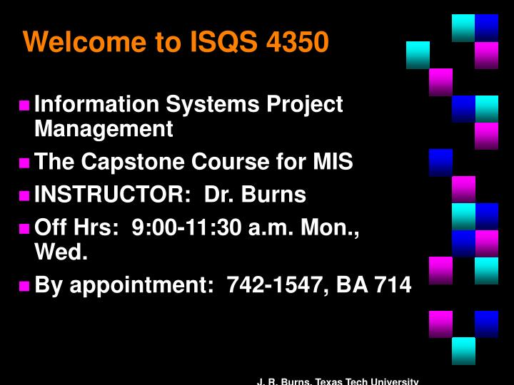 welcome to isqs 4350 n.