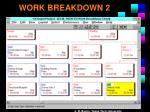 work breakdown 2