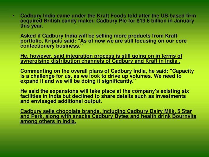 cadbury india market entry strategy