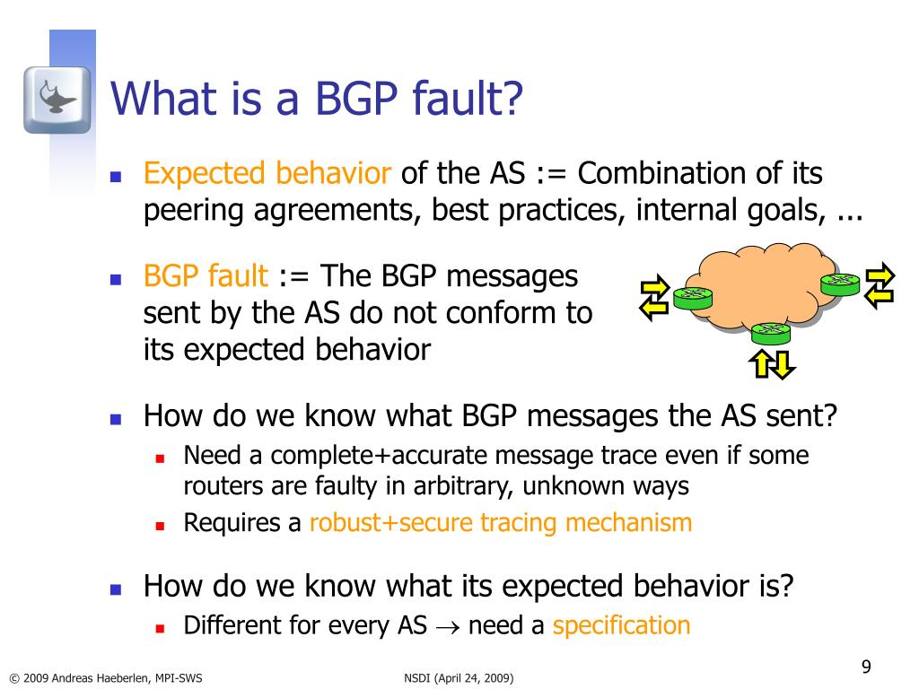 What is a BGP fault?