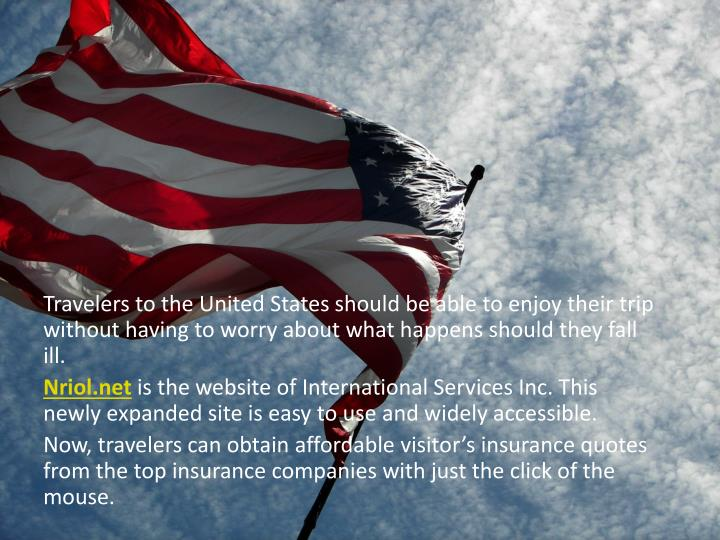 Travelers to the United States should be able to enjoy their trip without having to worry about what...