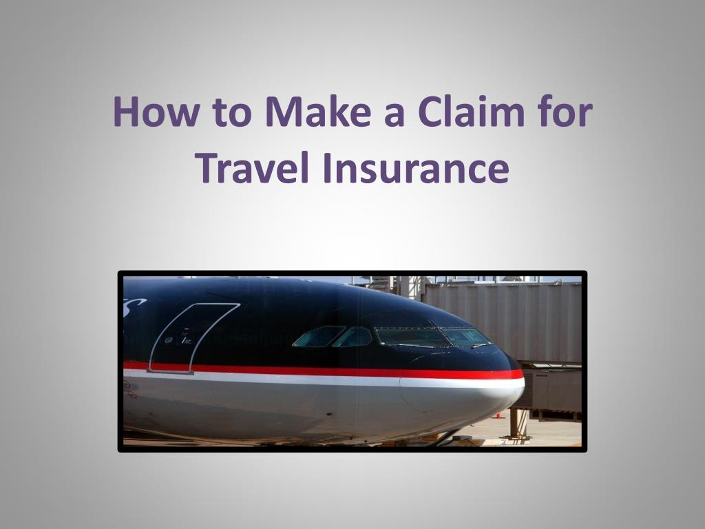 how to make a claim for travel insurance l.