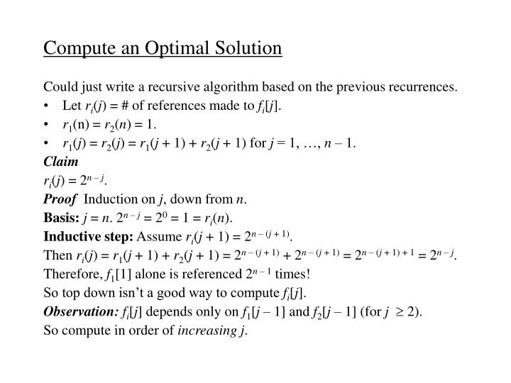 Compute an Optimal Solution
