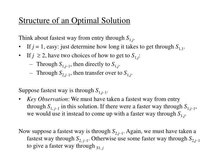 Structure of an Optimal Solution