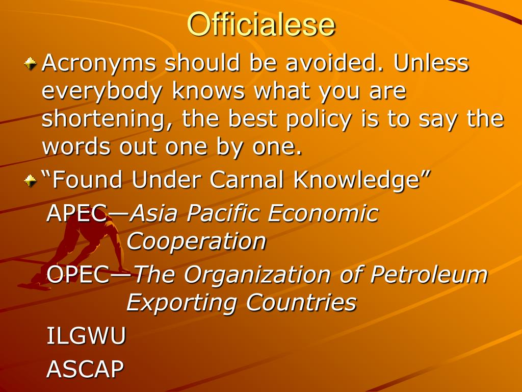 Officialese