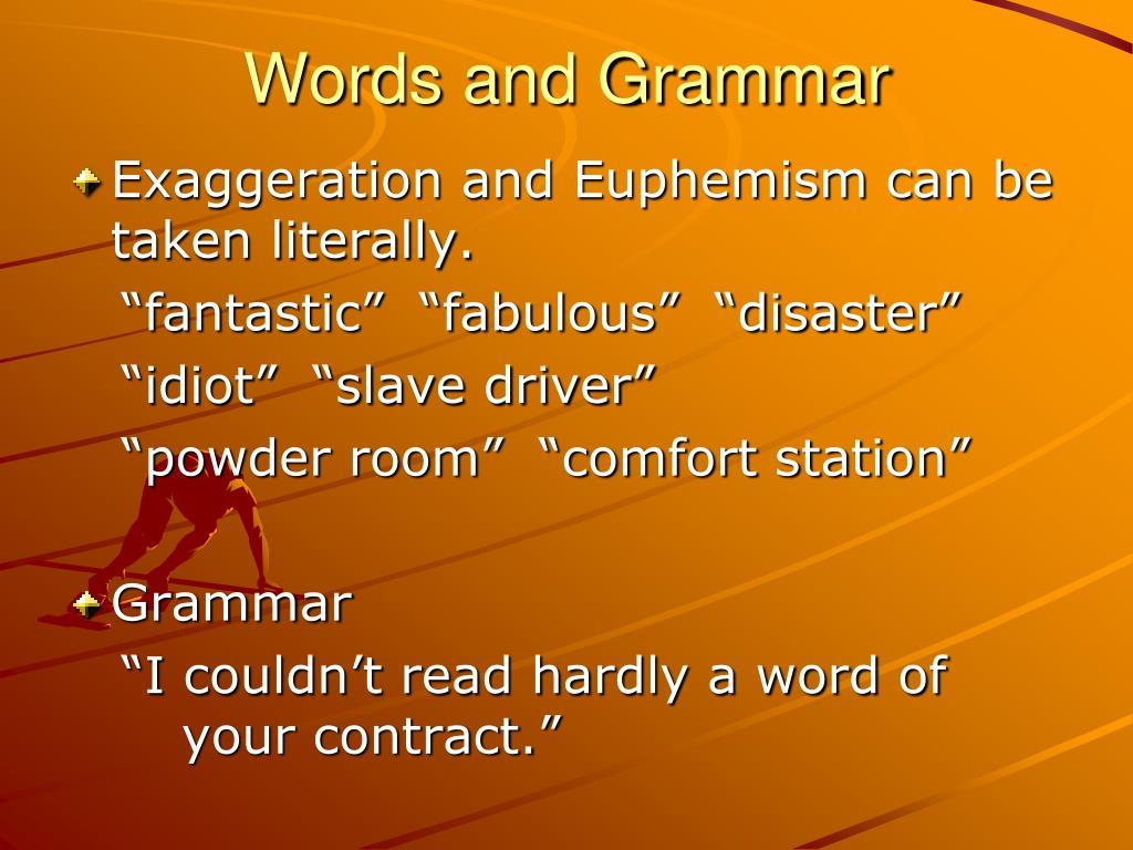 Words and Grammar