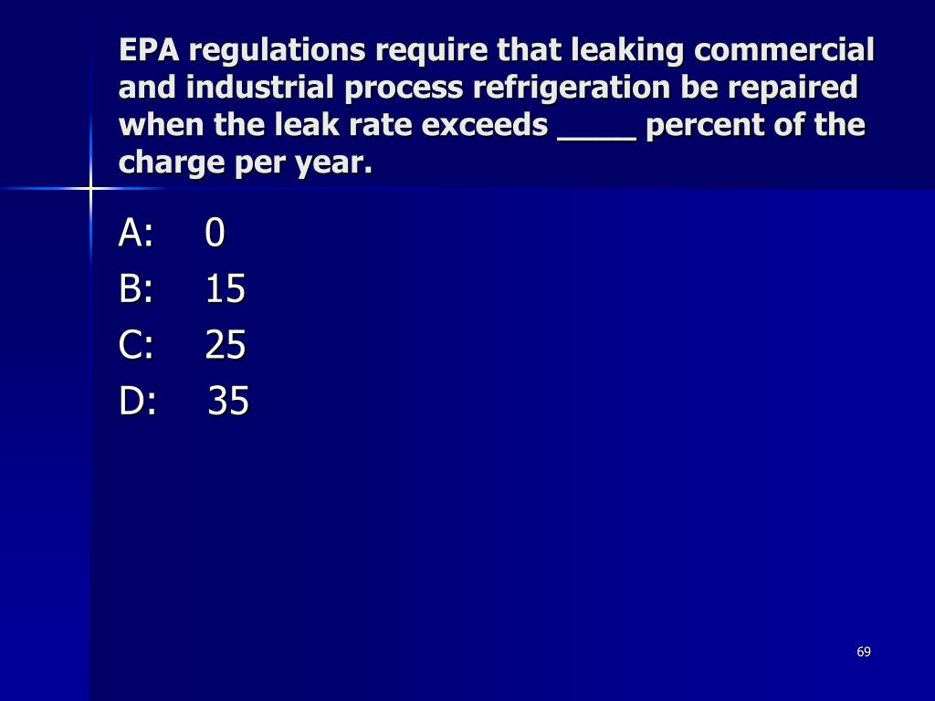 EPA regulations require that leaking commercial and industrial process refrigeration be repaired when the leak rate exceeds ____ percent of the charge per year.