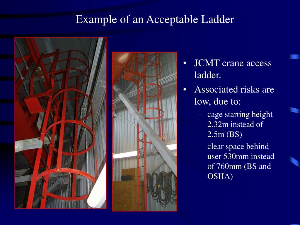 Example of an Acceptable Ladder