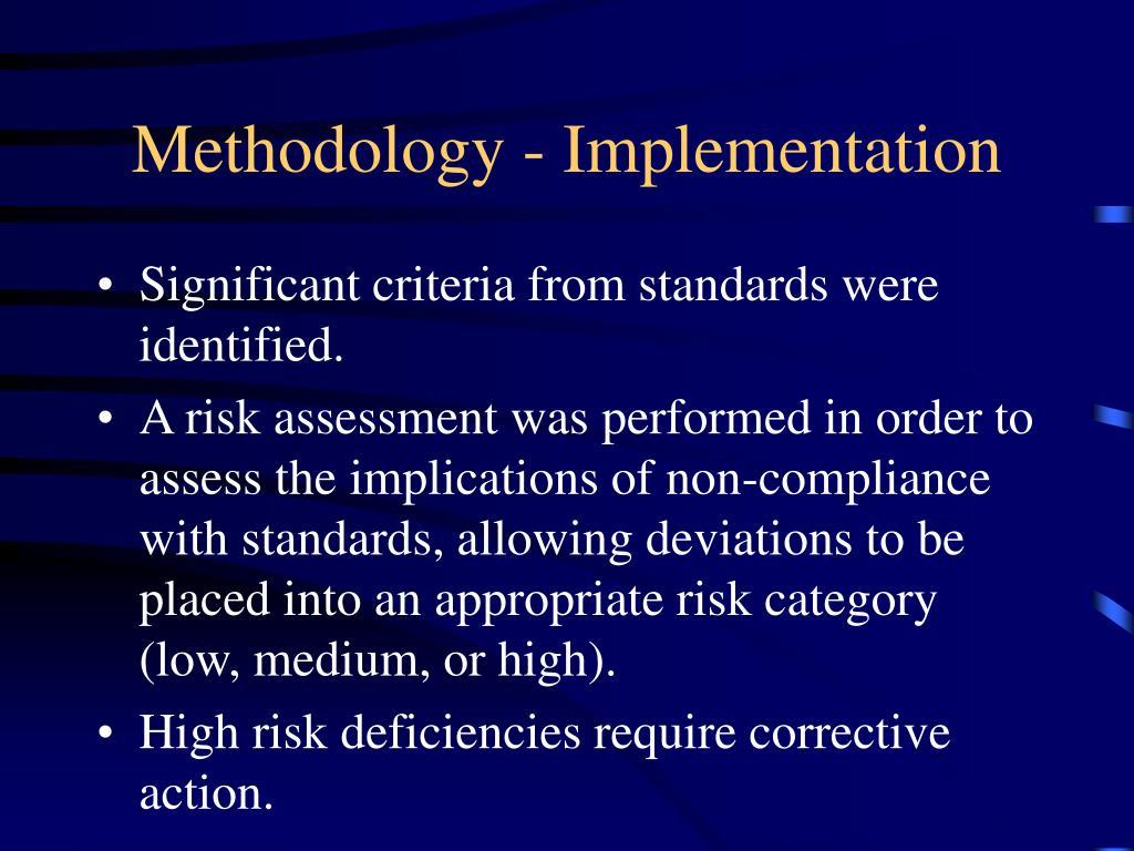 Methodology - Implementation