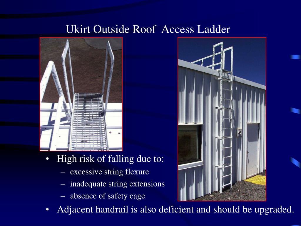 Ukirt Outside Roof  Access Ladder