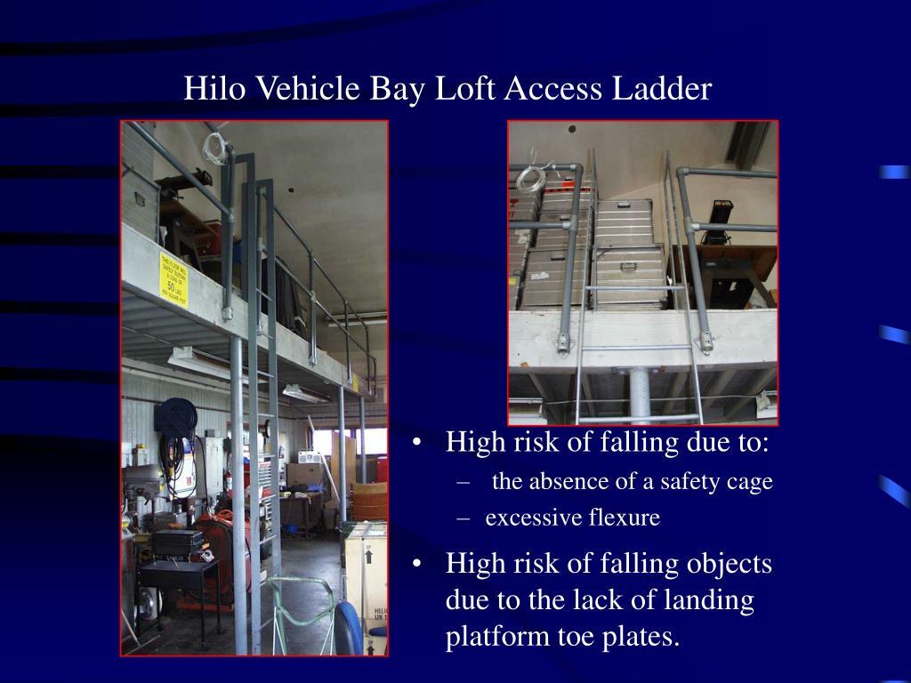 Hilo Vehicle Bay Loft Access Ladder
