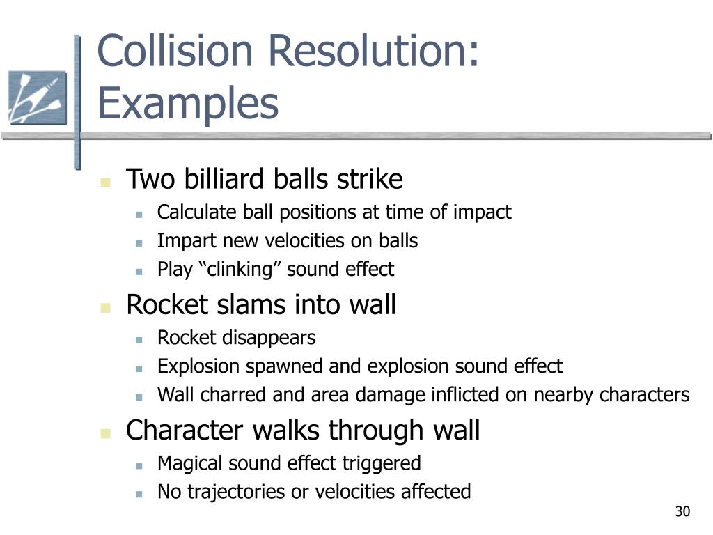 PPT - Chapter 4 2 Collision Detection and Resolution