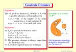 geodesic distance