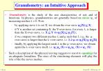 granulometry an intuitive approach