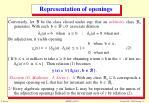 representation of openings