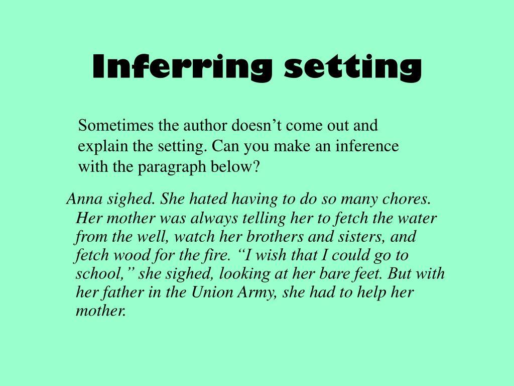 Inferring setting