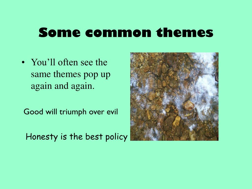 Some common themes