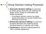 group decision making processes