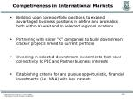 competiveness in international markets