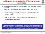 linking our growth plan to kpc downstream businesses