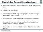 maintaining competitive advantages