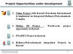 project opportunities under development