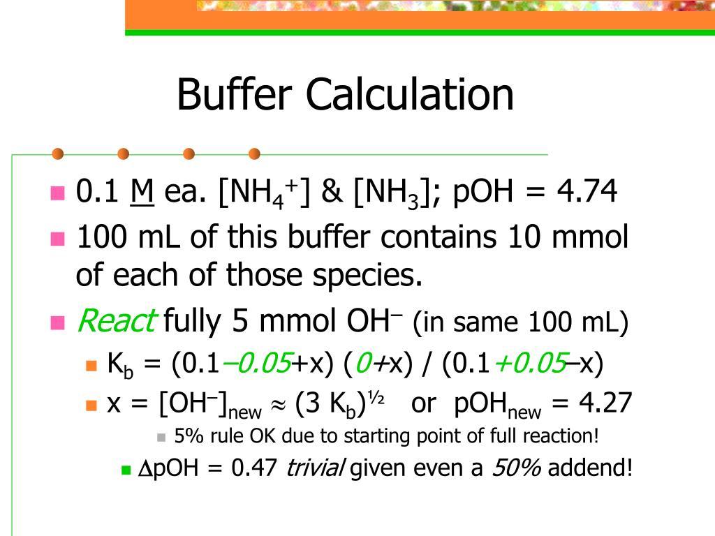 Buffer Calculation