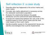 self reflection 3 a case study