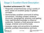 stage 3 excellent band description