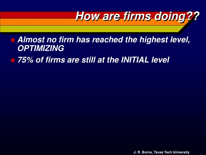 How are firms doing??