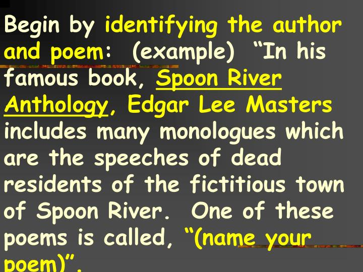 spoon river monologues