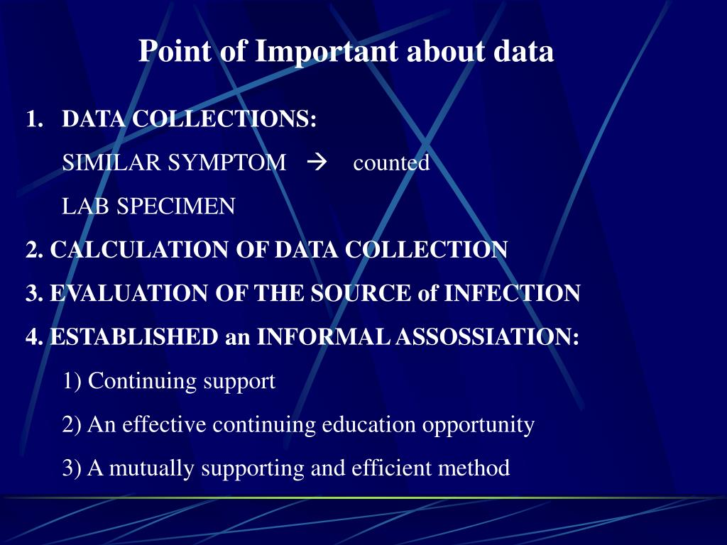 Point of Important about data