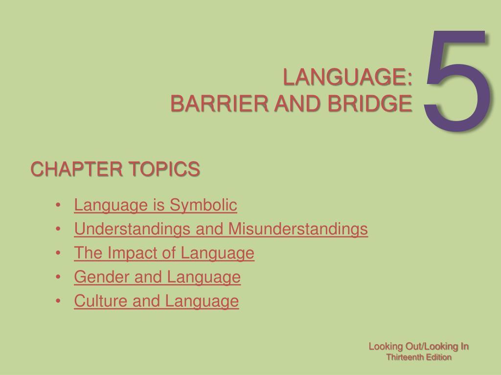 language barrier and bridge l.