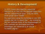 history development