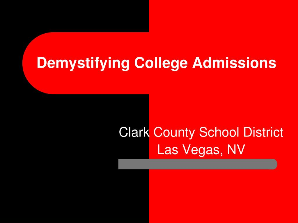 demystifying college admissions l.