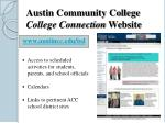 austin community college college connection website